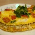 фото омлета с сыром и помидорами