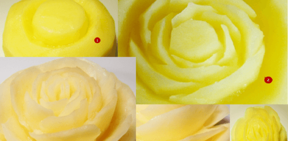Пошаговое фото карвинга из овощей и фруктов для начинающих