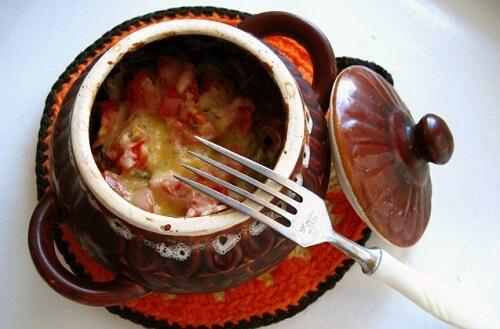 фото баклажанов с картошкой и мясом в горшочках