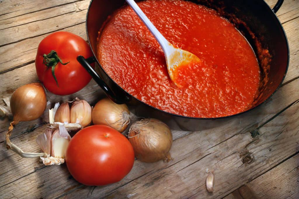 Соус к макаронам из помидор