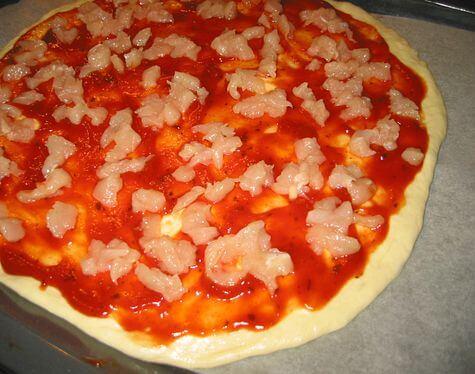фото пиццы с курицей