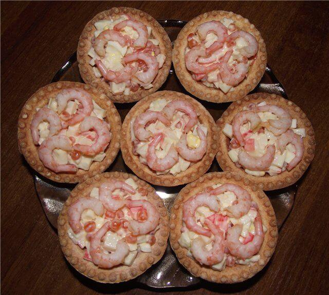 тарталетки морской ананас