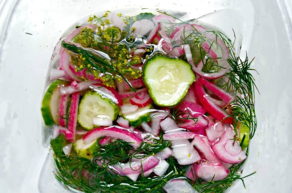 фото салата из огурцов с луком и укропом на зиму