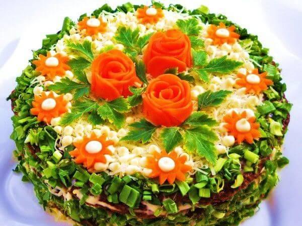 печеночный торт на праздник