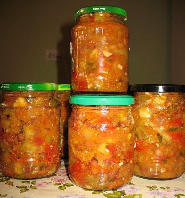 Фото стручковая фасоль с овощами на зиму