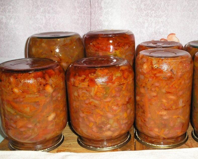Фото стручковая фасоль с добавлением овощей