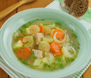 фото легкого супа из сельдерея