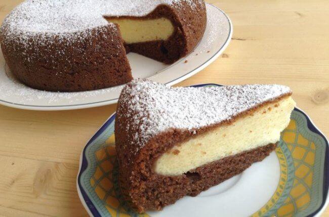 Фото шоколадно-творожный кекс в мультиварке