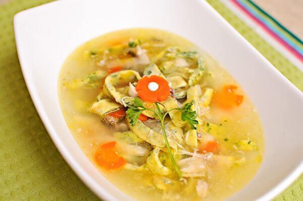 похмельный суп с яйцом и вермишелью