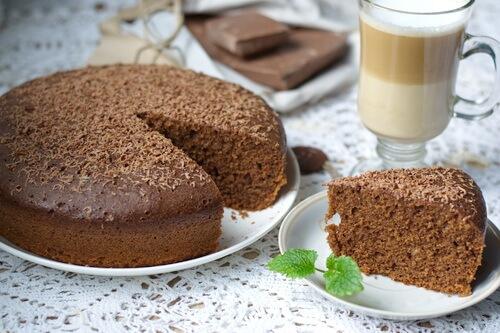 Фото шоколадный кекс в мультиварке