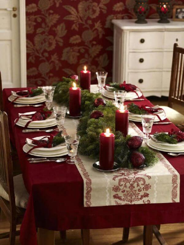 Сервировка Новогоднего стола на год Огненного Петуха