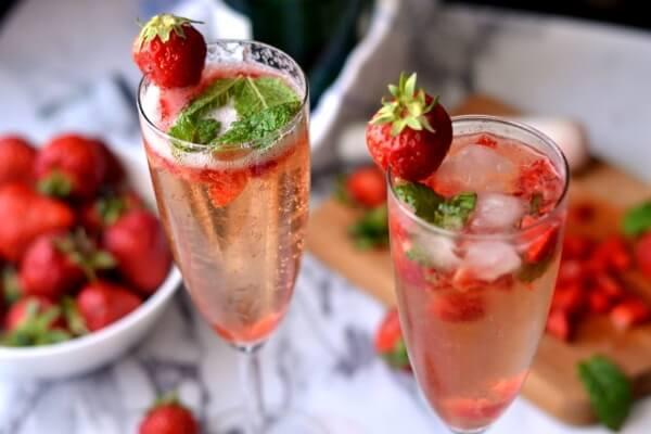 Мохито из шампанского