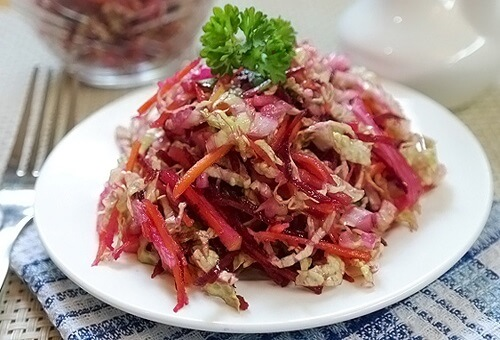 Салат из свеклы с капустой