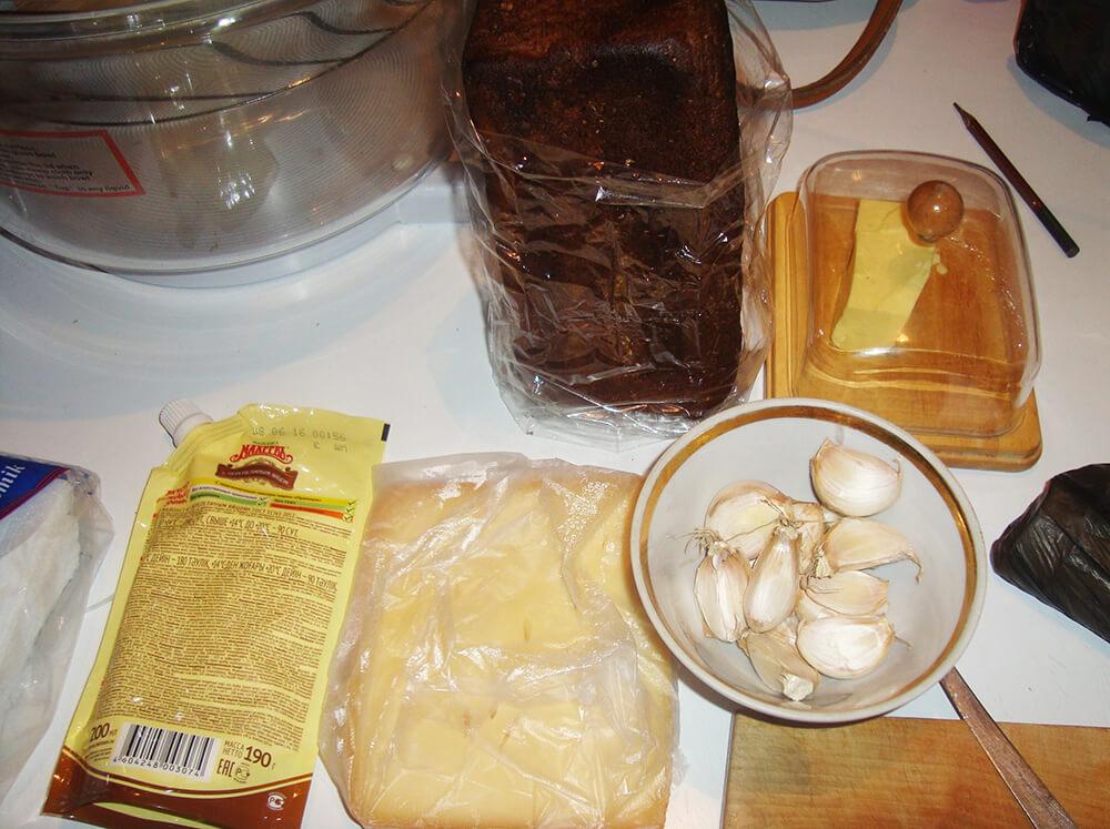 продукты для приготовления гренок
