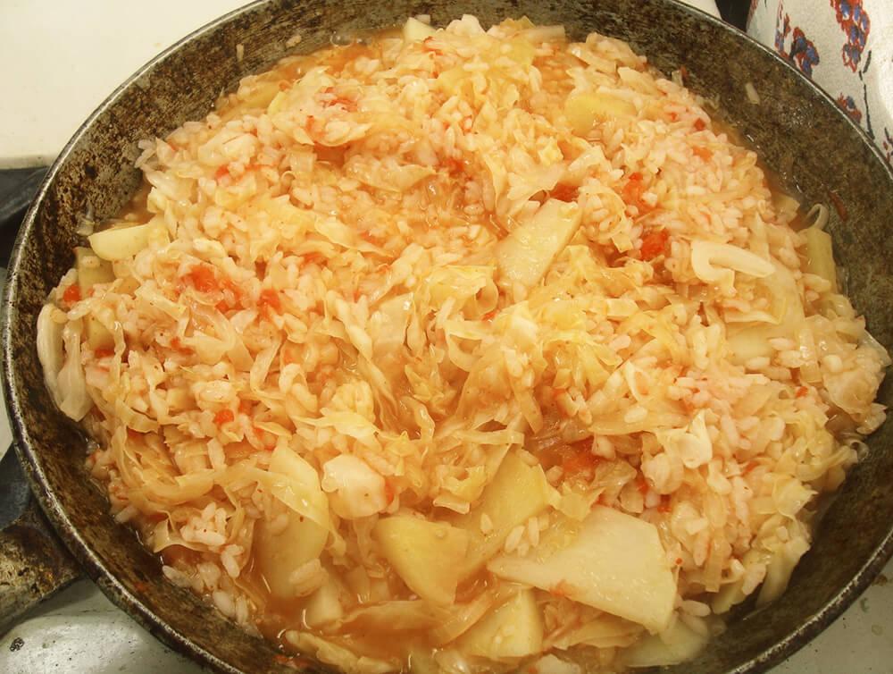 бигос с рисом и картофелем