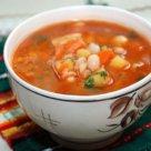 Быстрый суп из консервированной фасоли в томатном соку
