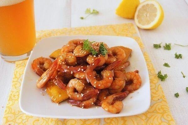 Морепродукты с соевым соусом