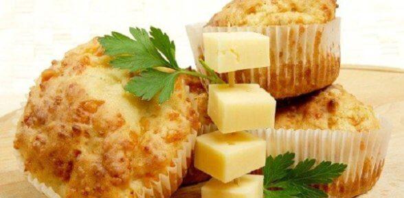 Закусочные маффины с сыром и курицей