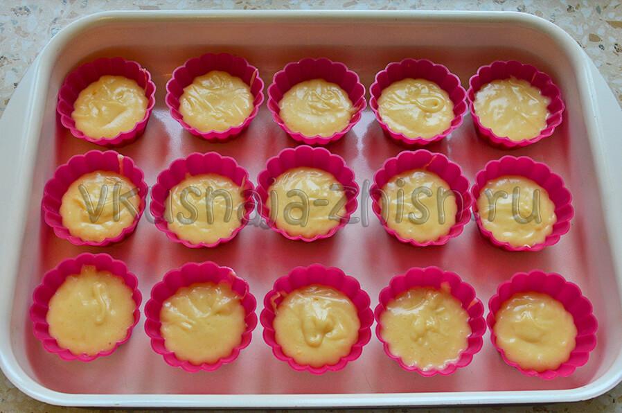 Кексы рецепт пошагово с силиконовых формочках