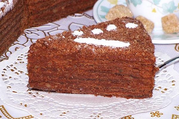 Шоколадный торт Наполеон