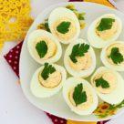Яйца с крабовыми палочками