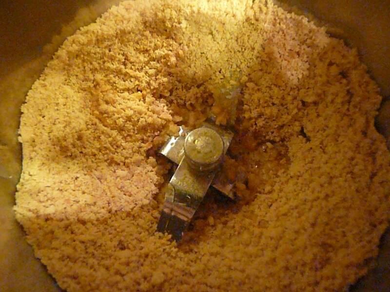 Приготовление крошки для пирожного Картошка