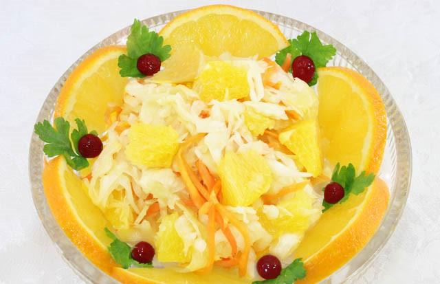 Необычная соленая капуста быстрого приготовления с апельсином