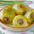 Фаршированный картофель с мясом