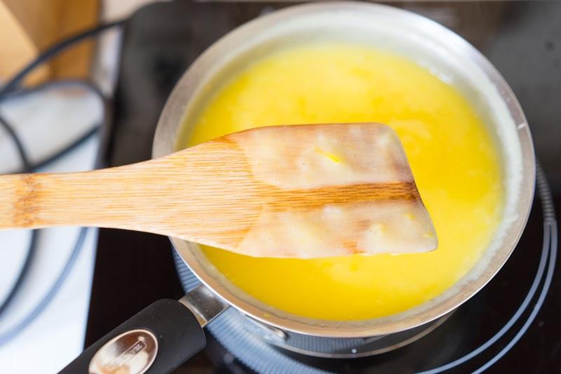 Изготовление лимонного курда