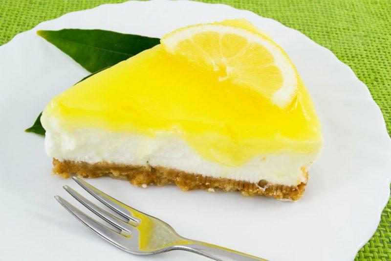 Творожная запеканка с лимонным курдом