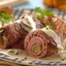 Рулады из говядины с беконом, луком и маринованными огурчиками