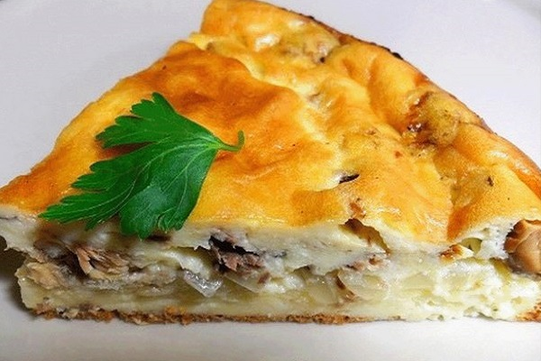 Быстрый рыбный пирог рецепт фото