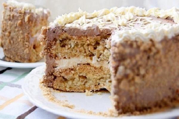 Киевский торт с кремом шарлотт