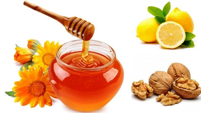 мед, орехи и лимоны