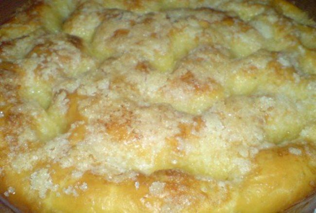 сахарный пирог с яблоками
