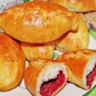 Пирожки с малиной фото