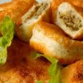 фото жареные пирожки с рисом и грибами