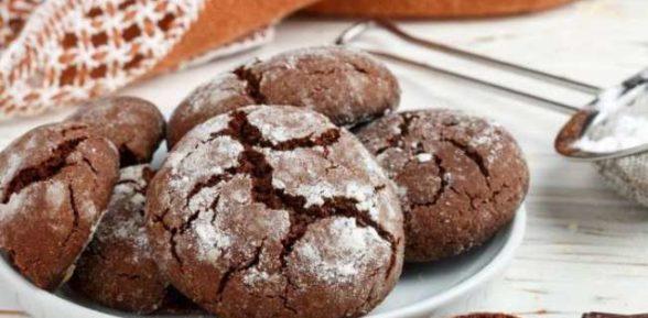 Песочное шоколадное печенье