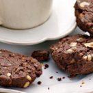 шоколадное пеенье с орехами