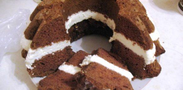Кекс с творожной начинкой