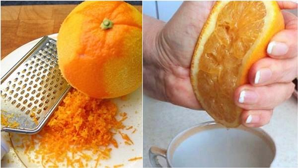 натереть цедру и выдавить сок из апельсина