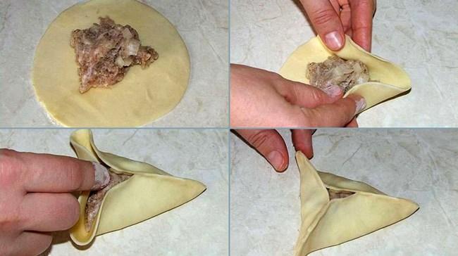 Дома этот рецепт используют редко, чаще всего такие беляши делают в столовых и других подобных заведениях.