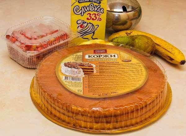 магазинные коржи для торта