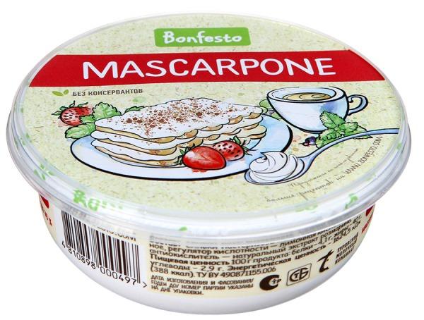 сыр маскарпоне в упаковке