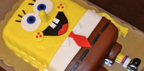 Рецепт торта «Губка Боб»