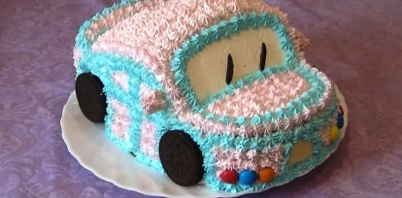 Рецепт торта в виде машины