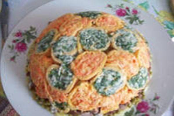 Рецепт с блинами из яиц