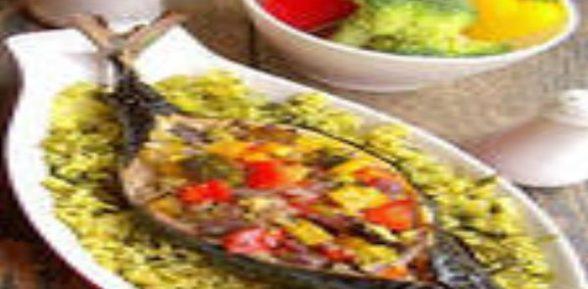 Скумбрия фаршированная овощами