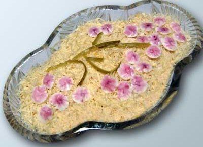 Салат ветка сакуры