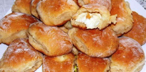 Пирожки в духовке с творогом